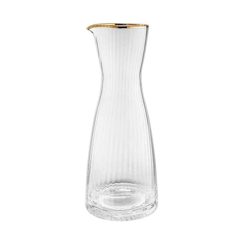 BUTLERS Karaffe »GOLDEN TWENTIES Karaffe mit Goldrand 1l«, Karaffe mit Goldrand 1l - mundgeblasenes Glas