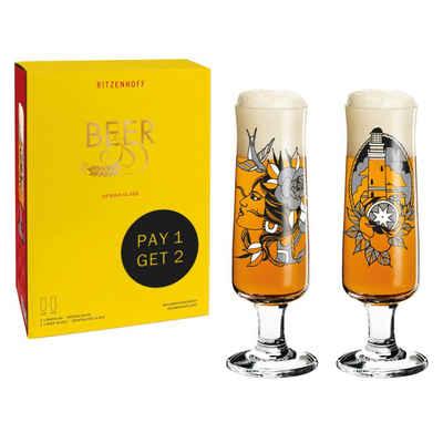 Ritzenhoff Bierglas »Beer 2er Set 2021 Tobias Tietchen«, Kristallglas