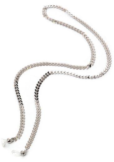 J.Jayz Brillenkette »Fischgrätdesign, rhodiniert«