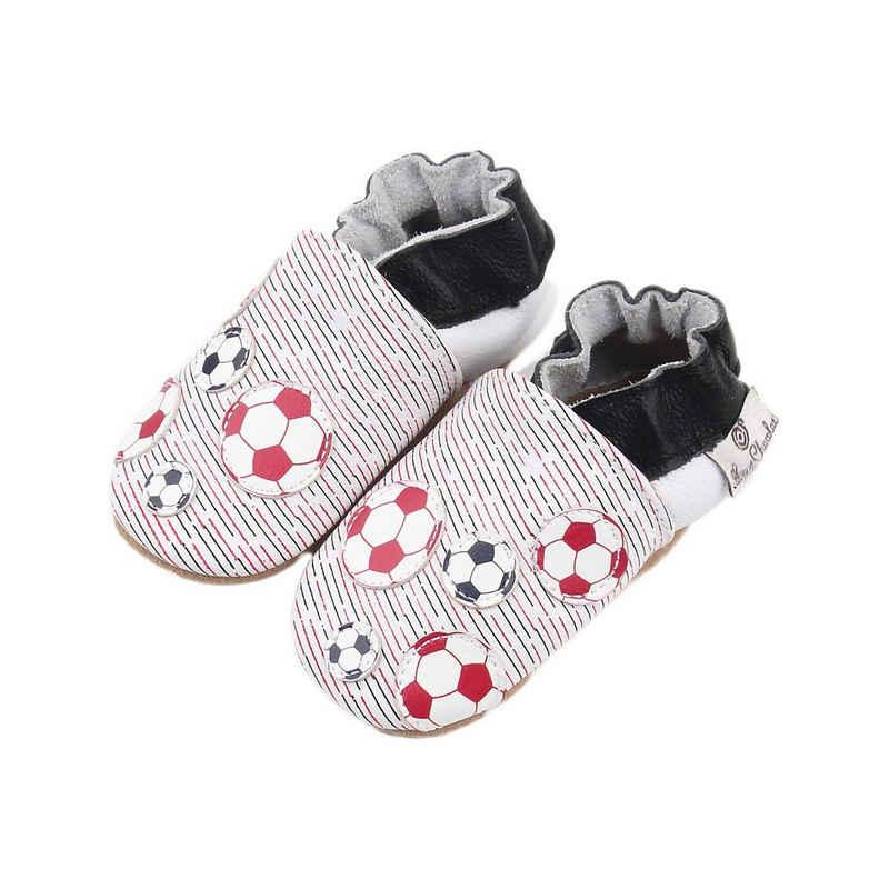Rose et Chocolat »Krabbelschuhe Soccer Balls für Jungen« Krabbelschuh
