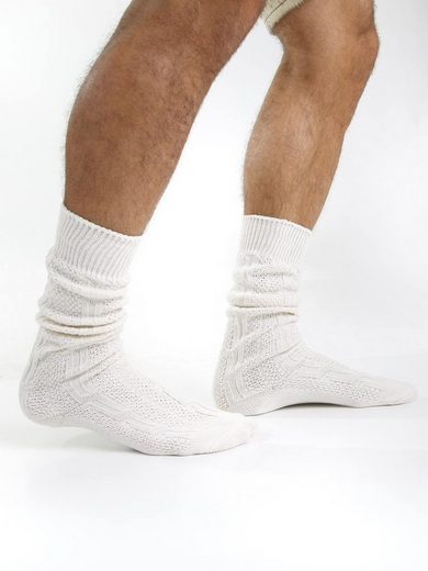 Almbock Trachtensocken »Trachten Socken kurz« (1-Paar) naturfarben