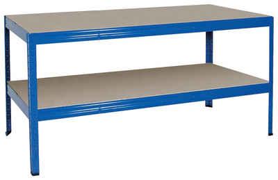 Werkbank, 1800x600x900 mm, Gesamttragkraft 700 kg, RAL 5010 enzianblau