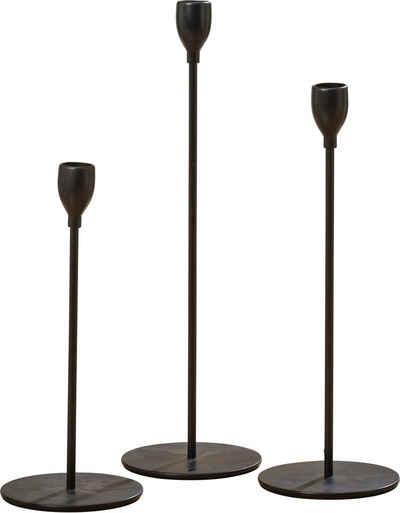 LeGer Home by Lena Gercke Kerzenleuchter »Malia« (Set, 3 Stück), aus Eisen, Durchmesser ca. 10 cm