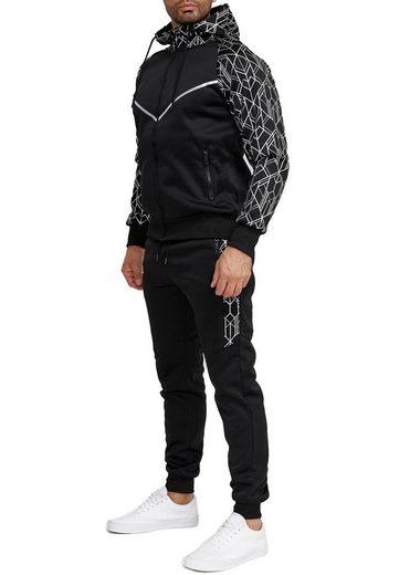Egomaxx Trainingsanzug »3586«, Herren Slim Fit Trainingsanzug Casual Basic Streetwear Sportanzug