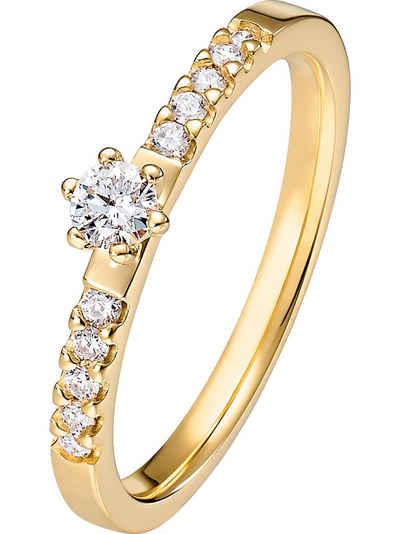 CHRIST Fingerring »CHRIST Damen-Damenring 585er Gelbgold 1 Diamant«