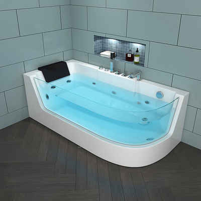 HOME DELUXE Whirlpool-Badewanne »Carica«, (4-tlg), B/T/H: 170 / 80 / 59 cm
