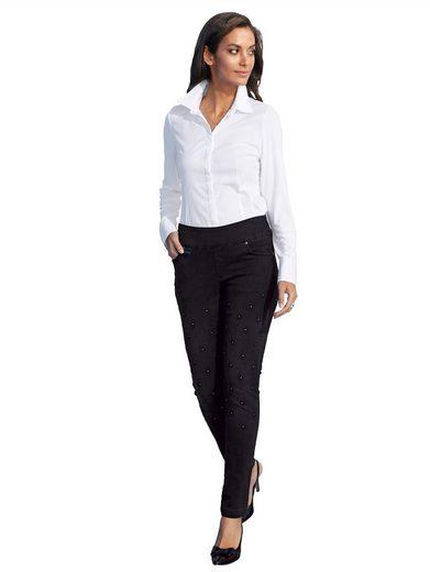 Amy Vermont Bluse mit Vorderteil aus Webware und Rückteil & Ärmel aus elasti