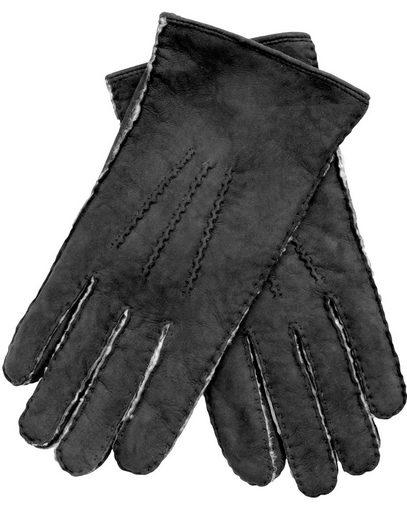 EEM Lederhandschuhe Herren Lammfell Handschuhe LIAM aus Neuseeland-Curly, handgenäht