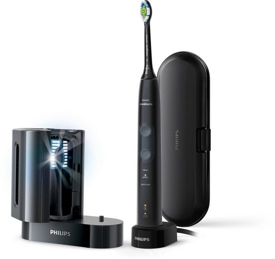 Philips Sonicare Elektrische Zahnbürste HX6850/57, Aufsteckbürsten: 1 St., Schallzahnbürste