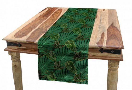 Abakuhaus Tischläufer »Esszimmer Küche Rechteckiger Dekorativer Tischläufer«, Blätter Monstera Exotic Tropical