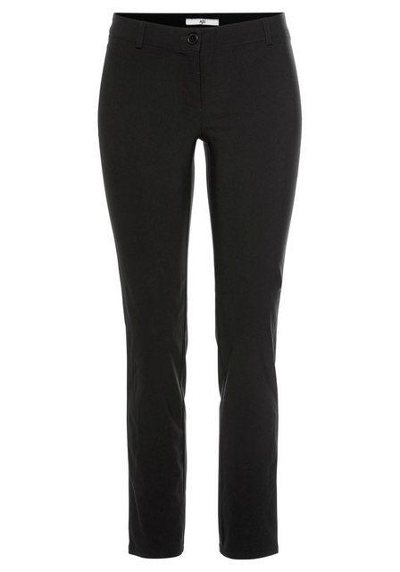 Hosen - AJC Stretch Hose aus pflegeleichter Bengalin Qualität in schmaler Form › schwarz  - Onlineshop OTTO