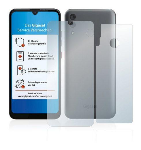 upscreen Schutzfolie »für Gigaset GS3 (Vorder + Rückseite)«, Folie Schutzfolie matt entspiegelt antibakteriell
