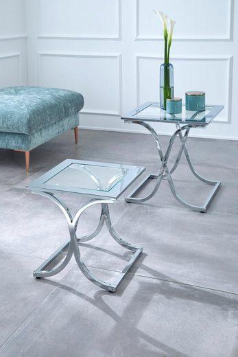 Guido Maria Kretschmer Home&Living Satztisch »Ballum«, mit edlem Metallgestell und Glasplatte