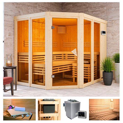 KARIBU Sauna »Aaina 3«, 231x196x198 cm, 9 kW Bio-Ofen mit ext. Steuerung