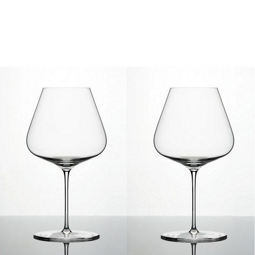 Zalto Rotweinglas »Denk´Art Burgunderglas Mundgeblasen 2er Set« (2-tlg)