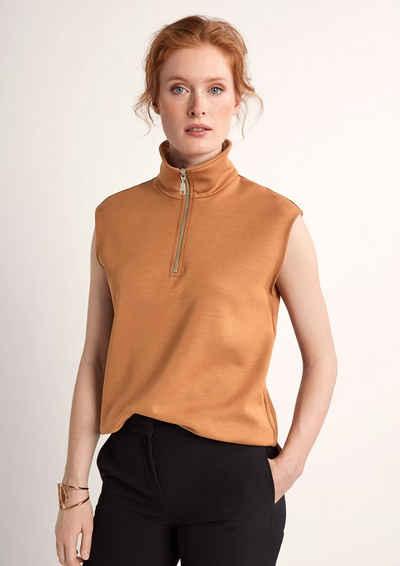 Comma Jackenblazer »Ärmelloser Sweater mit Kragen« Blende