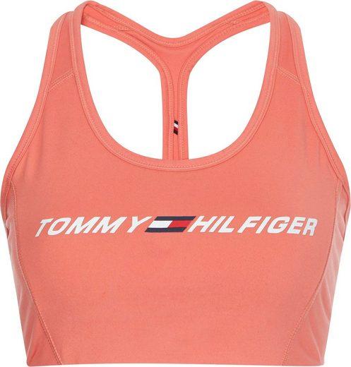 Tommy Hilfiger Sport Sport-Bustier »LIGHT INTENSITY GRAPHIC BRA« mit Trägern für niedrige Stützkraft & Tommy Hilfiger Logo-Schriftzug