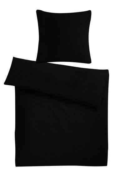Bettwäsche »Kuschelige Biber Bettgarnitur, Winterbettwäsche, aus 100% Baumwolle, einfarbig«, Carpe Sonno, Warmer einfarbiger Flanell-Bettbezug 155x220 cm für die kalte Jahreszeit, weiche & warme Biber Bettwäsche mit Wohlfühlcharakter, kuscheliges Material in Premium Qualität - Made in Germany