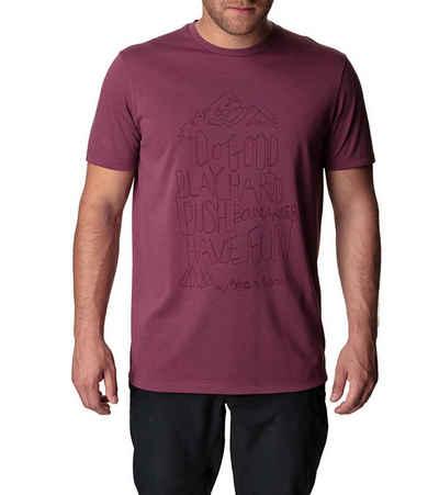 Houdini T-Shirt »HOUDINI Big Up Message T-Shirt sommerliches Herren Rundhals-Shirt Kurzarm-Shirt Berry«