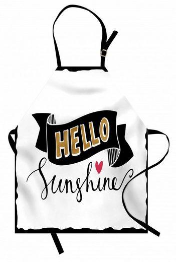 Abakuhaus Kochschürze »Höhenverstellbar Klare Farben ohne verblassen«, hallo Sonnenschein Grunge-Effekt Wörter