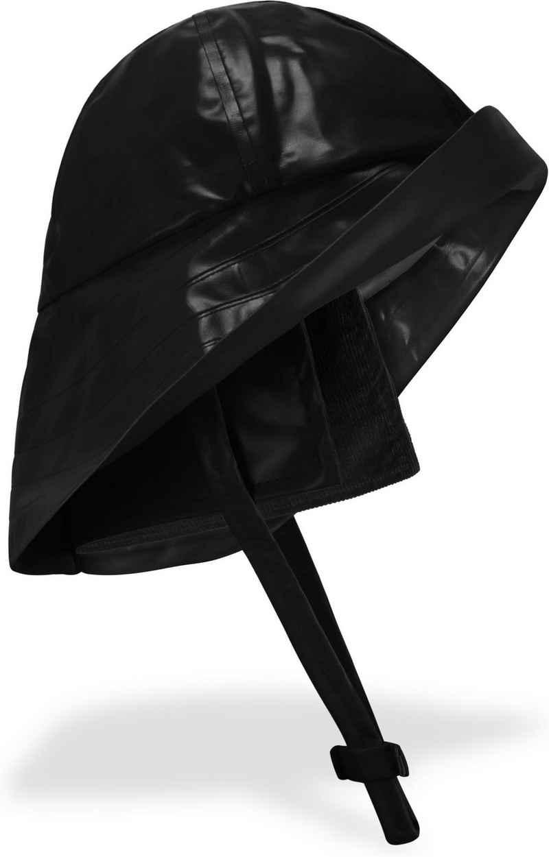normani Fischerhut »Südwester Regenhut Cork« Unisex Regenmütze mit Kinnband, breiter Krempe und Innenfutter - Wasserdichter Angelhut