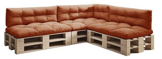 sunnypillow Palettenkissen »7er Set: 3x Sitzkissen + 3x Rückenkissen + 1x Seitenkissen«, palettenmöbel palettencouch polsterauflage 120 x 80