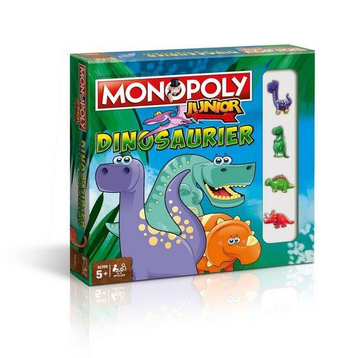 Winning Moves Spiel, Brettspiel »Monopoly Junior Dinosaurier«