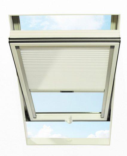 Dachfensterplissee, RORO Türen & Fenster, blickdicht, in Führungsschienen, BxH: 74x140 cm