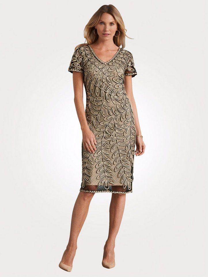 Festtagsmode - Mona Kleid mit Kurbelstickerei und Glanzeffekten › natur  - Onlineshop OTTO
