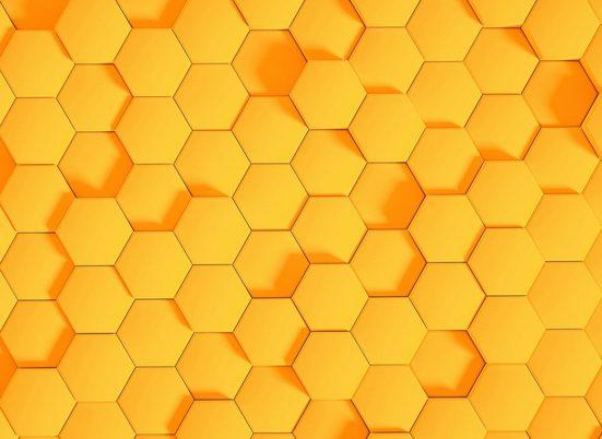 LIVINGWALLS Fototapete »Designwalls Honeycomb 2«, Premium Vlies