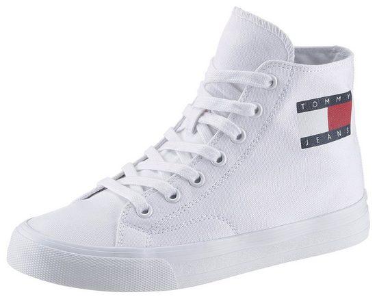 TOMMY JEANS »WMNS MID CUT LACE UP VULC« Sneaker mit seitlichem Logo