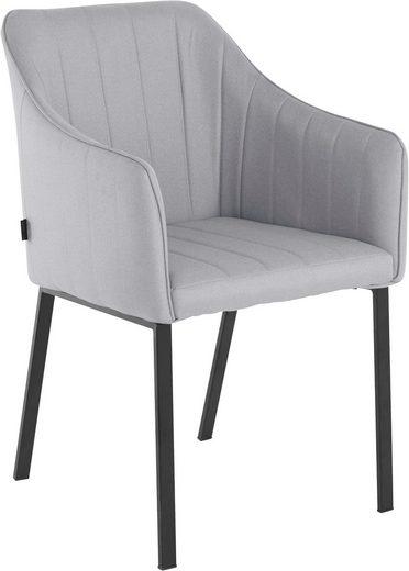INOSIGN Armlehnstuhl »Gavin« (Set, 2 Stück), mit pflegeleichtem Webstoff Bezug, Gestell aus Metall, Sitzhöhe 50 cm