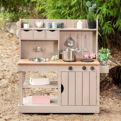 MUDDY BUDDY® Spielküche »Matschküche Explorer« Holz, BxLxH: 40x102x105 cm