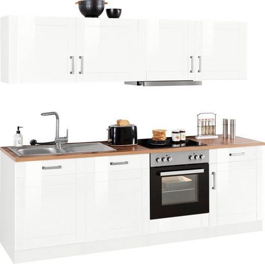 HELD MÖBEL Küchenzeile »Tinnum«, mit E-Geräten, Breite 240 cm