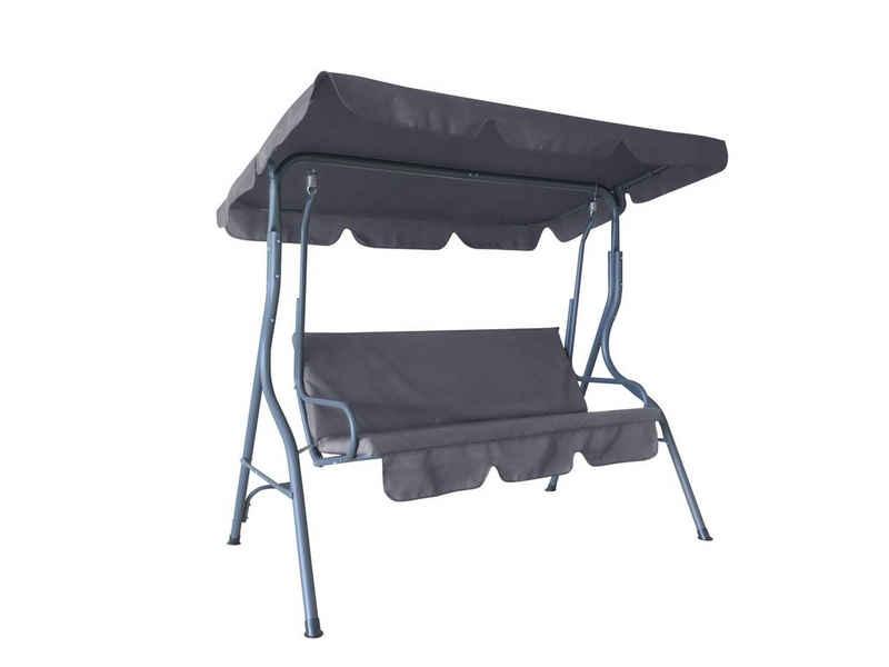 HC Home & Living Hollywoodschaukel »Hollywoodschaukel 3-Sitzer Anthrazit«, 3-Sitzer, verstellbares Sonnendach, Dach verstellbar, Wasserabweisend