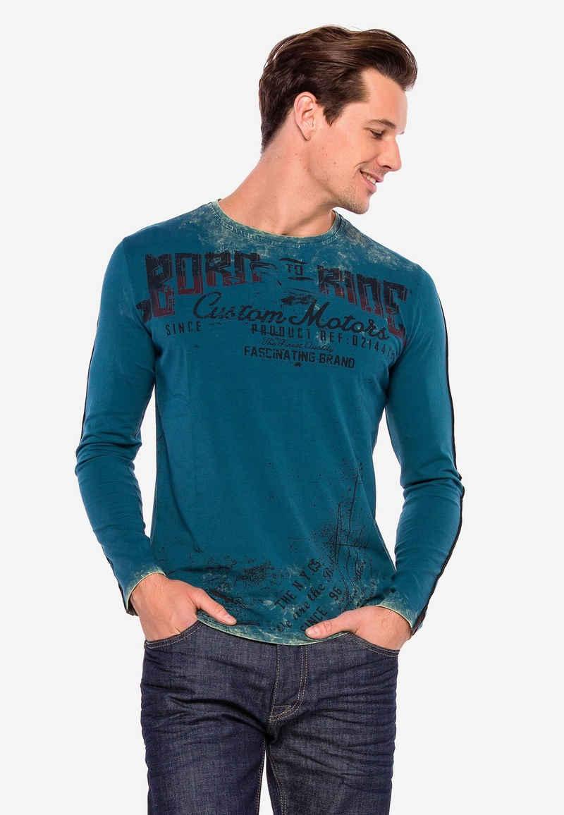 Cipo & Baxx Sweatshirt im Antique Look