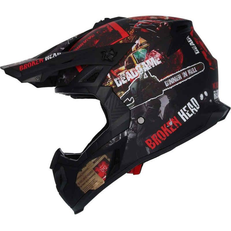 Broken Head Motorradhelm »Resolution rot«, verstellbarer Helmschirm