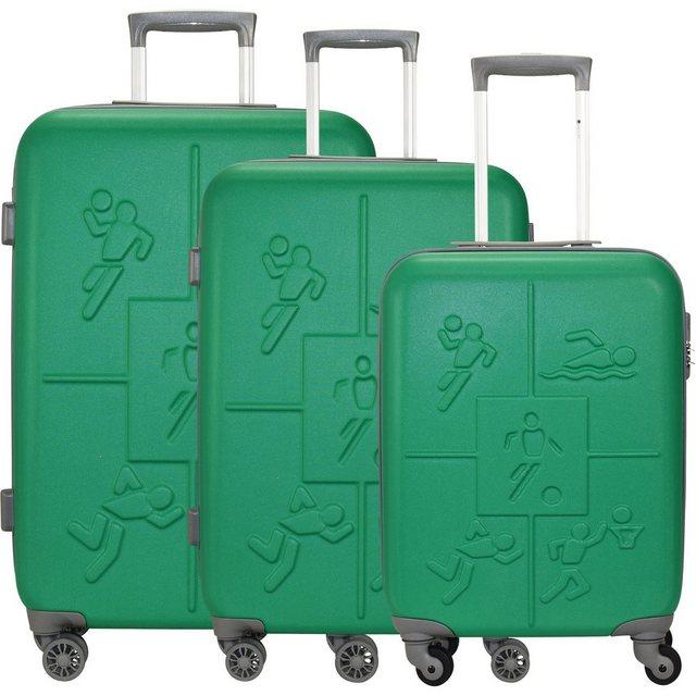 CHECK.IN® Trolleyset »Sports«, 4 Rollen, (3-teilig), ABS | Taschen > Koffer & Trolleys > Hartschalenkoffer | CHECK.IN®