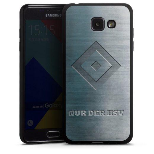 DeinDesign Handyhülle »Nur der HSV Metalllook« Samsung Galaxy A5 (2016), Hülle HSV Hamburger SV Metallic Look
