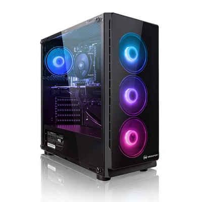 Megaport Gaming-PC (AMD Ryzen 5 3600 6x3,60 GHz, GeForce GTX 1650 4GB, 16 GB RAM, 2000 GB HDD, 240 GB SSD, Windows 10, WLAN)