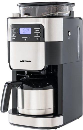 Medion® Kaffeemaschine mit Mahlwerk MD 19777, 1l Kaffeekanne, Papierfilter 1x4