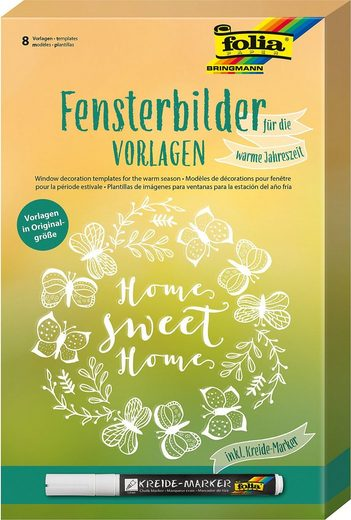Fenstersticker »Fensterbilder Home Sweet Home«, Folia