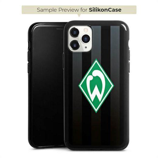 DeinDesign Handyhülle »Werder Bremen schwarz gestreift« Xiaomi Mi 9T, Hülle Offizielles Lizenzprodukt SV Werder Bremen Streifen