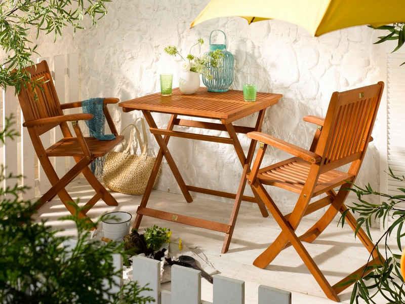 Sedex Balkonset »Gartenmöbel Linus aus Eukalyptus«, (1-tlg), klappbar