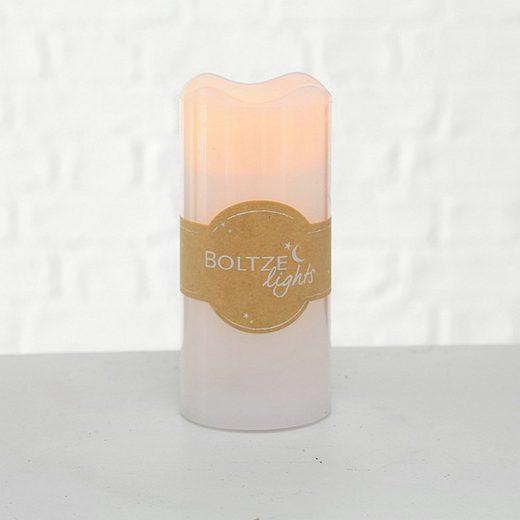 BOLTZE Lichterkette »LED-Kerze LIGHTS weiß aus Wachs batterienbetrieben 15cm«