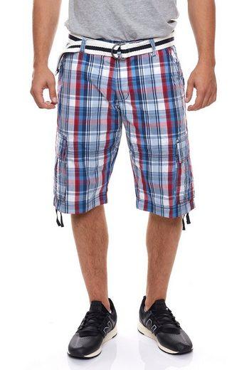 Rhode Island Cargoshorts »Rhode Island Cargo-Bermudas smarte Herren Shorts Sommer-Hose Freizeit-Shorts Mehrfarbig«