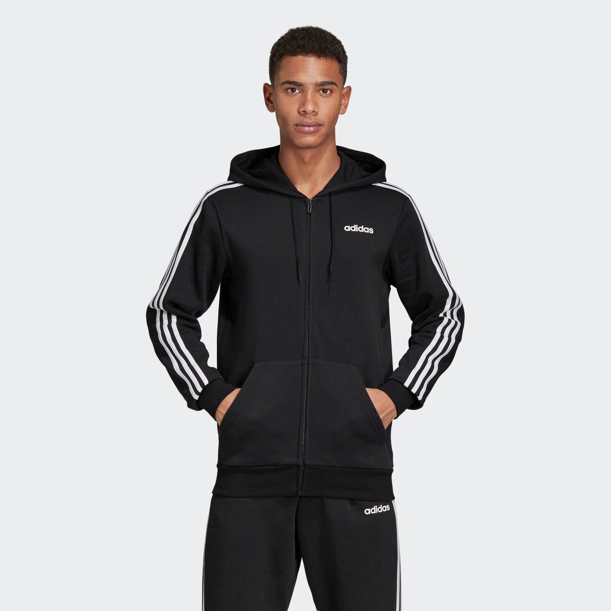 adidas Performance Sweatjacke »Essentials 3 Streifen