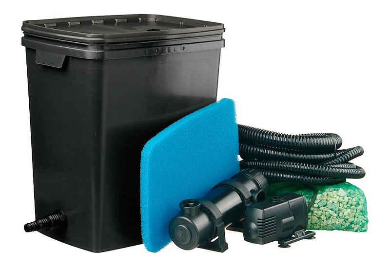 Ubbink Teichfilter »Filtra Pure 7000 Plus« (Set, Teichfilter (35 W); Teichpumpe (2.300 l/h); UVC-Gerät (11 W); Filterschwamm; Filtermedien; 2 Schläuche (3 m, 1 m); Schlauchklemme; Anschlussmaterial)
