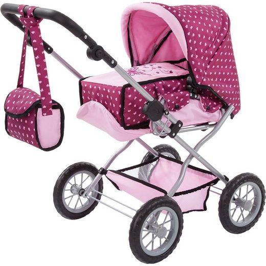 Bayer Puppenwagen »Kombi-Puppenwagen Grande pink/gepunktet«