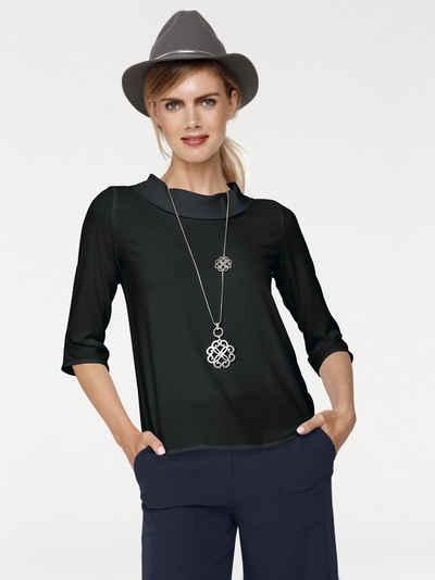 34-46 mit Aufdruck Rick Cardona Viskose Shirt Bluse Gr 507